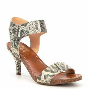Vince Camuto Olinsa Cork Sandal Gold Metallic